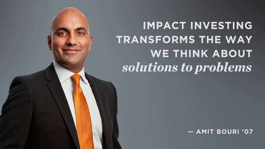 Impact investing transforms the way we think about solutions to problems - Amit Bouri | Social Impact | Kellogg School
