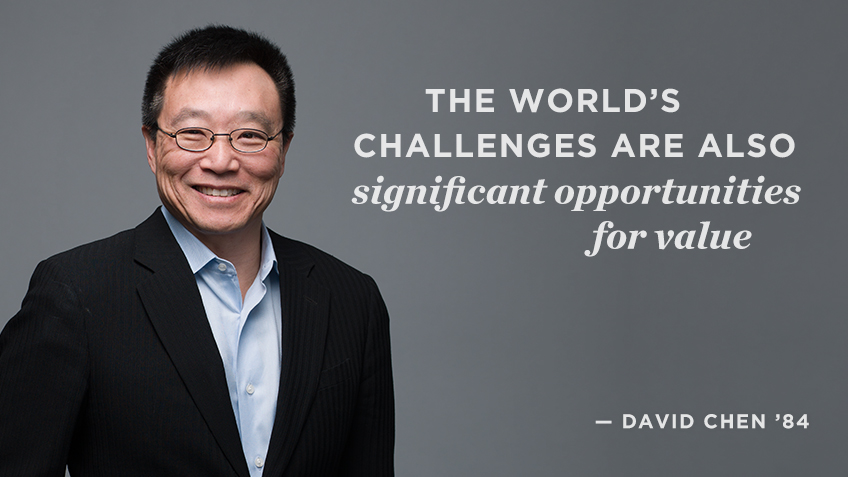 The world's challenges are also significant opportunities for value - David Chen | Social Impact | Kellogg School