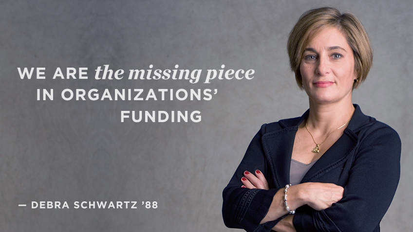 We are the missing piece into organizations' funding - Debra Schwartz | Social Impact | Kellogg School
