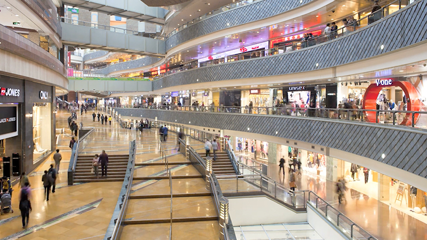 The mall is a good place to see an established buyer-seller relationship.