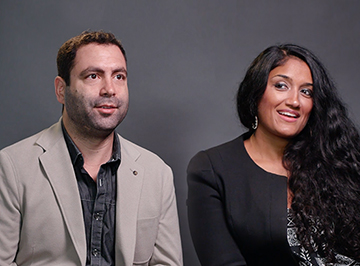 Javier Castro and Radha Mehta Portrait