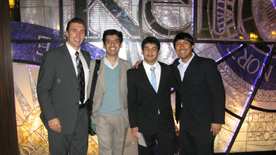 The winners of the 2010 Education Innovation Case Competition