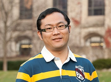 A portrait of Alex Sun, a one-year MBA student at Kellogg.