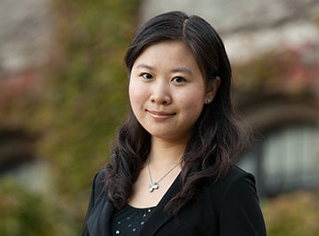 A portrait of Cheng Li , a one-year MBA student at Kellogg.