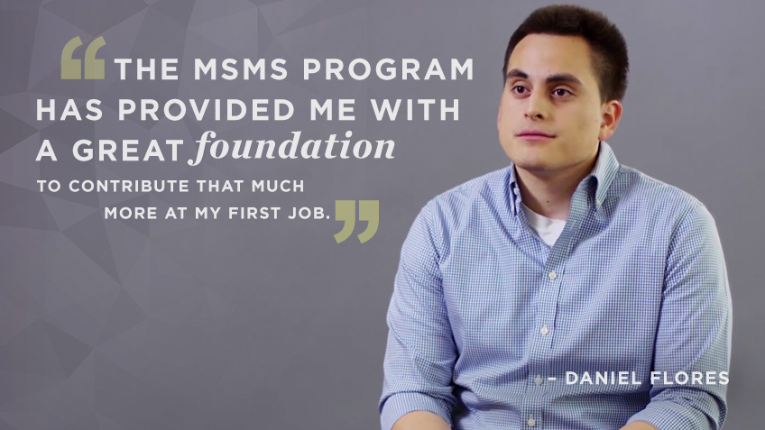 Daniel Flores discusses his Kellogg MSMS (Masters in Management) experience