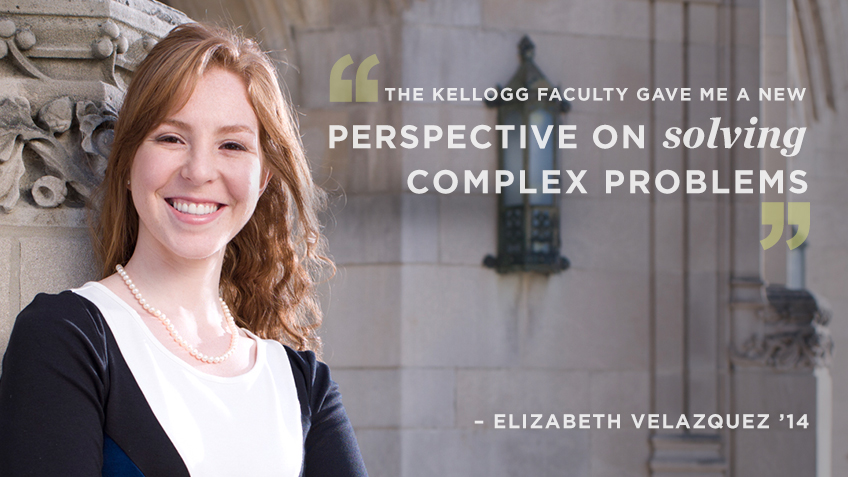 Elizabeth Velazquez discusses her Kellogg MSMS (Masters in Management) program experience