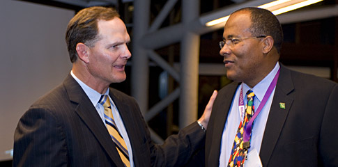 Jim Scherr '89, 2008 Beacon Capital Executive in Residence with Jim Jones, President and CEO of ChildServe