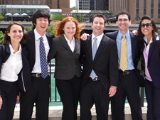 Members of the winning 2009 Kellogg Team