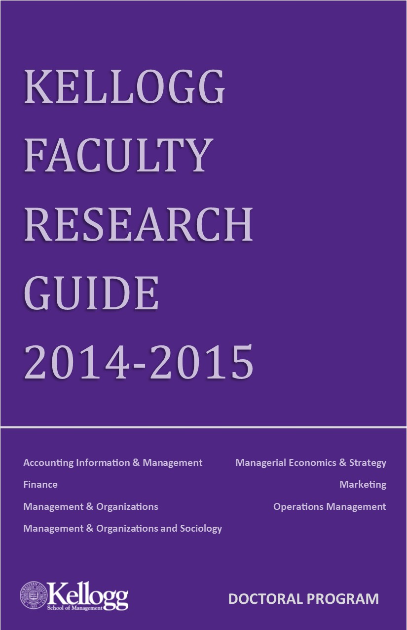 Kellogg Faculty Research Guide 2014-2015