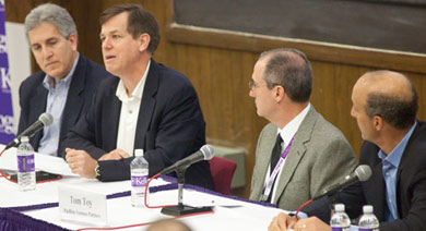 From left to right: William Ecker, Harry Kraemer, Thomas J. Toy and Steven J. Sherman.