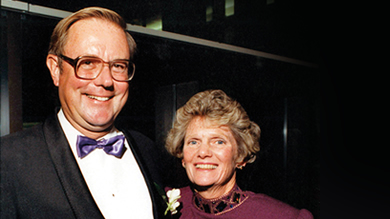 Ned Heizer '51 and his wife Molly in 1989