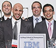 The Kellogg team, which represented IBM, bested teams from other top business schools to take home the $5,000 prize from Fuld & Co., which organized the event.