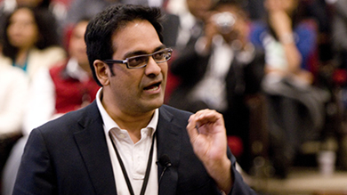 Business leaders from around the world share their knowledge at Kellogg's international conferences. Shailesh Rao '99, Google India's managing director, was among the featured speakers at the 2010 India Business Conference.