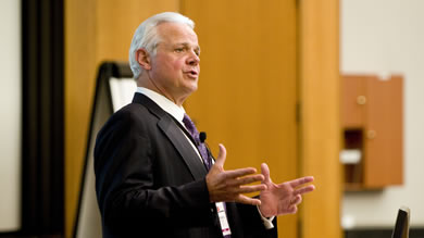 """For the first time in many years, American manufacturing is doing better than the rest of the economy,"" Michael Ducker '99, COO of FedEx Express, said in his keynote address at the 2011 Kellogg Manufacturing and Operations Conference."