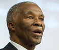 In a keynote speech at the Africa Business Conference, Thabo Mbeki, the former president of the Republic of South Africa, said Africans need to take an active role in moving the continent forward.