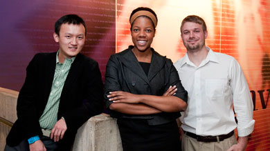 Kellogg students Robin Tang '12, Amber Barkley '13 and Mike Tobias '13