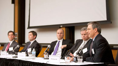 "Alumni experts tackled the topic ""Surviving and Thriving: How to Navigate Today's Real Estate Market"""