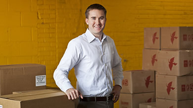 Brandon Hinkle (pictured) and co-founder Ryan McElvogue '09 germinated the idea for plura Financial Solutions with classmates in entrepreneurship classes at Kellogg. Several Kellogg alumni and lecturer Gregory White remain as advisers.