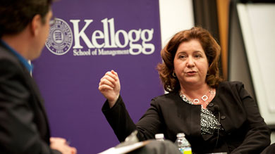 Kellogg Professor Janice Eberly, currently serving as assistant secretary of the U.S. Treasury