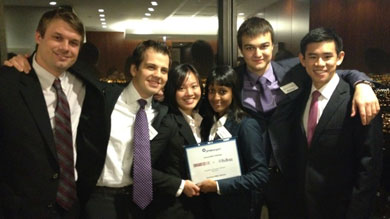 Kellogg teams take home three out of four prizes at the firm's annual case competition