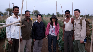 Kellogg Corps members work with small farmers in India to develop their value-added processing skills.
