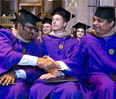 The Executive MBA convocation ceremony honored 70 graduates of Kellogg's Evanston-based program, as well as graduates of Kellogg's joint degree programs with partner schools in Hong Kong and Germany.