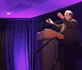 Bruce Mau, founder of Bruce Mau Design and a distinguished fellow at McCormick's Segal Design Institute, delivered the dinner's keynote address.