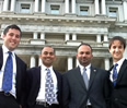 NuMat Technologies' leadership team, left to right: Ben Hernandez '13, Tabrez Ebrahim '13, Omar Farha and Chris Wilmer