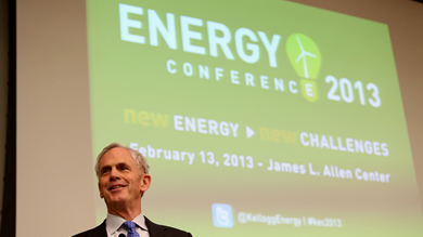 Former U.S. Commerce Secretary John Bryson delivered a keynote address at the 2013 Kellogg Energy Conference.