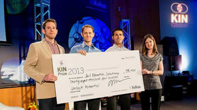 Jail Education Solutions took home more than $38,000 in prize money from the 2013 KIN Global student competition for their innovative jail education program.
