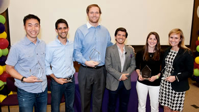 Five students, Professor Tim Calkins recognized at annual award ceremony