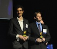 Northwestern graduate Yuri Malina, co-founder at SwipeSense, and McCormick graduate Cary Hayner, co-founder at SiNode Systems, receive Chicago Innovation Awards in the up-and-comer category.