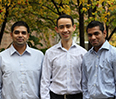 Charag Krishnan '14, Otmane El Manser '14 and Richie Khandelwal '14 took first place at the C. K. Prahalad Case Competition.