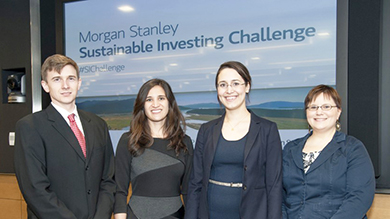 Morgan Stanley Sustainable Investing Challenge winners