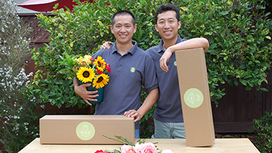 Songhua Hu '10 and Richard Lim '10