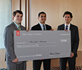 Left to right: John Elder, Yajur Kapoor and Alex Bourdeau, all '15