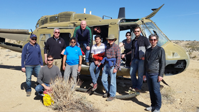 A team of ten Kellogg faculty and administrators were invited for an extended visit to the Army's National Training Center at Fort Irwin February 26-28.