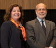 Addressing a filled auditorium at the Donald P. Jacobs Center, former Federal Reserve Bank Chairman Ben Bernanke delivered an extensive talk on the U.S. economy, the 2008 financial crisis and recovering from one of the greatest recessions in American history.