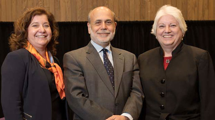 Jan Eberly, Ben Bernanke and Susan Bies