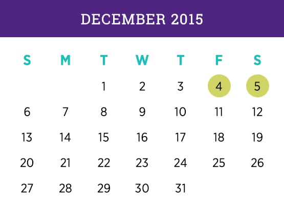 Kellogg Executive MBA — December 2015 Evanston calendar