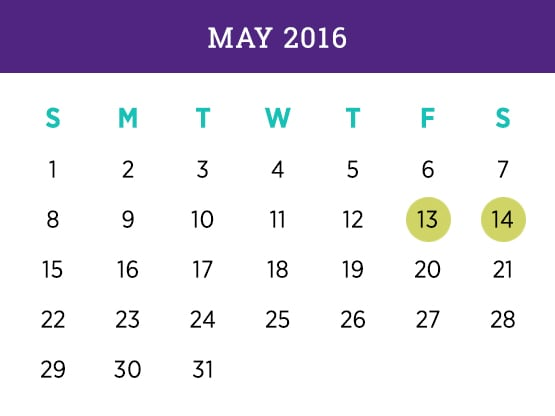Kellogg Executive MBA — May 2016 Evanston calendar
