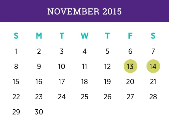 Kellogg Executive MBA — November 2015 Evanston calendar