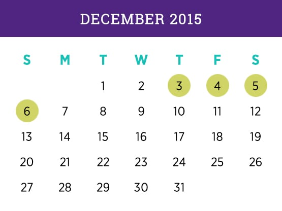 December 2015 Schedule Calendar Miami campus — Kellogg Executive MBA