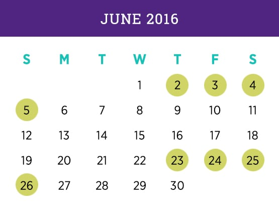 Kellogg Executive MBA Program — Miami June 2016 Calendar