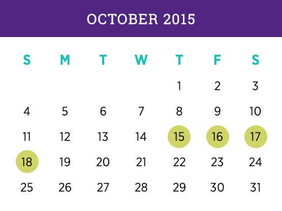 October 2015 Schedule Calendar Miami campus — Kellogg Executive MBA