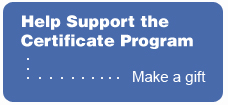 Help support the Certificate Program - Make a gift