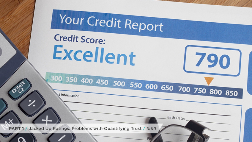Although credit reports  adequately quantify trust, they are not necessarily the best thing to base relational trust on.