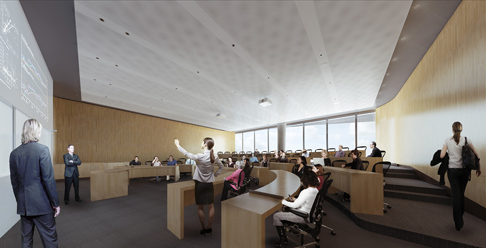 Flexible classrooms and spaces inside Kellogg's new building will foster a community for years to come