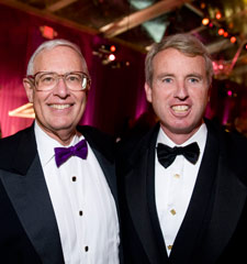 Northwestern President Henry Bienen and Chris Kennedy
