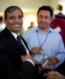 Dean Dipak C. Jain catches up with alums during Reunion 2009.